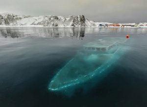 barco mar sem fim naufragado na antartica