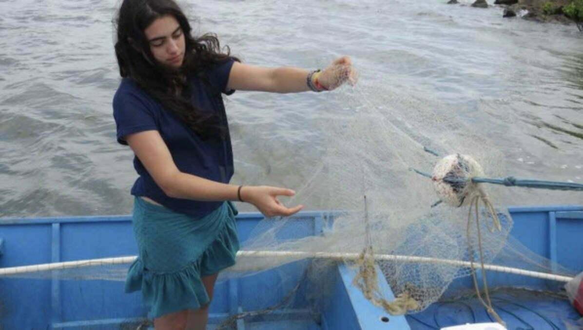 imagem de tâmara klink apresentadora do programa mar Brasil