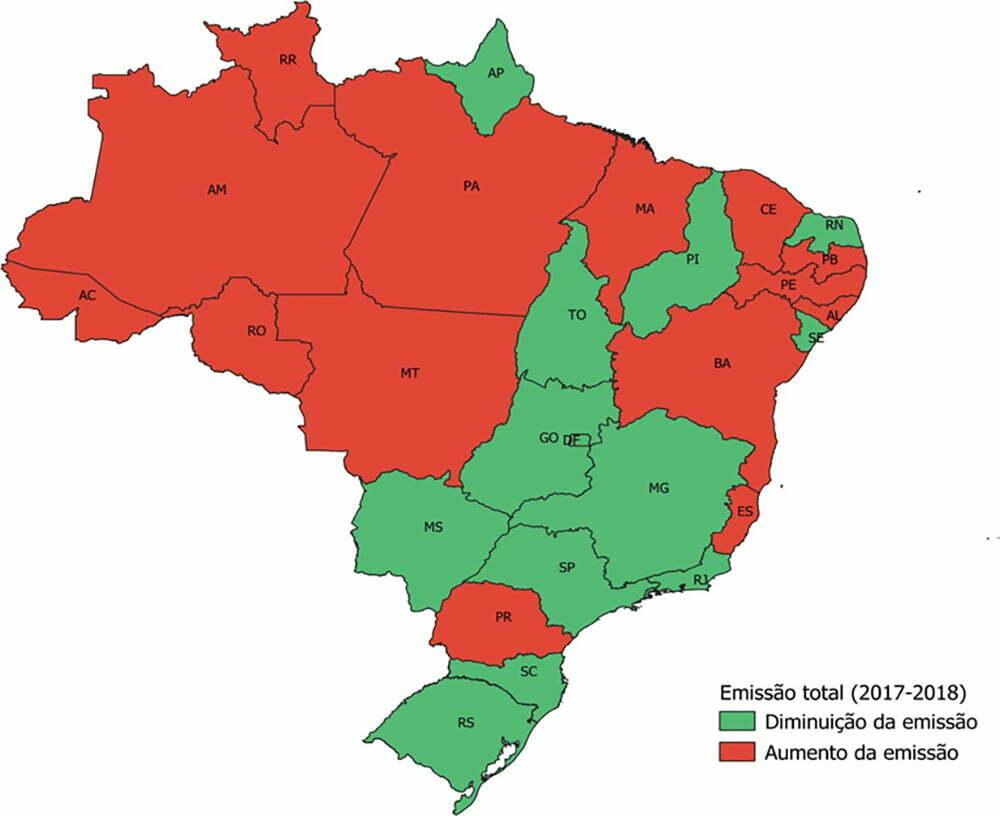 inforgráfico de Desmatamentos na Amazônia e as emissões brasileiras