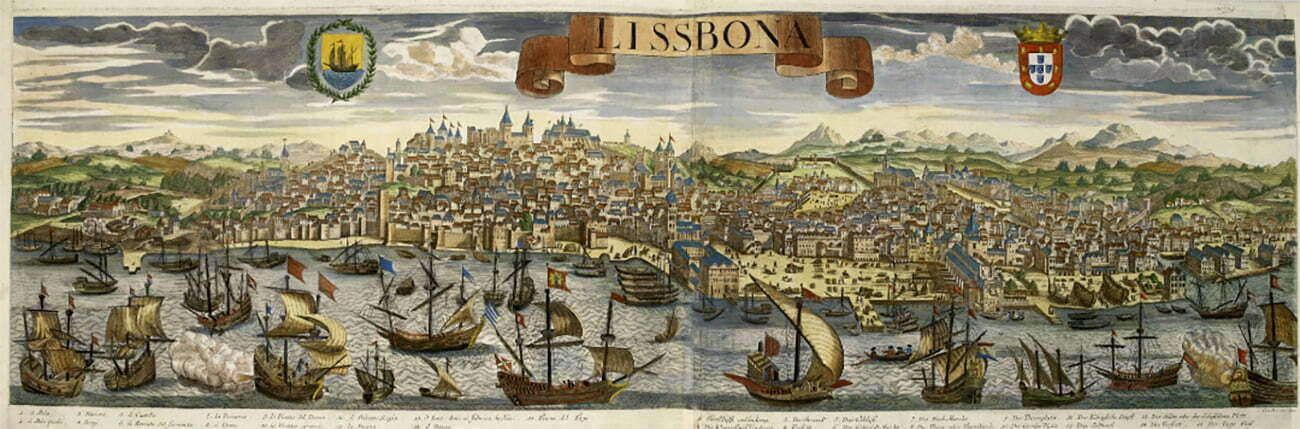 Gravura de Lisboa, século 16