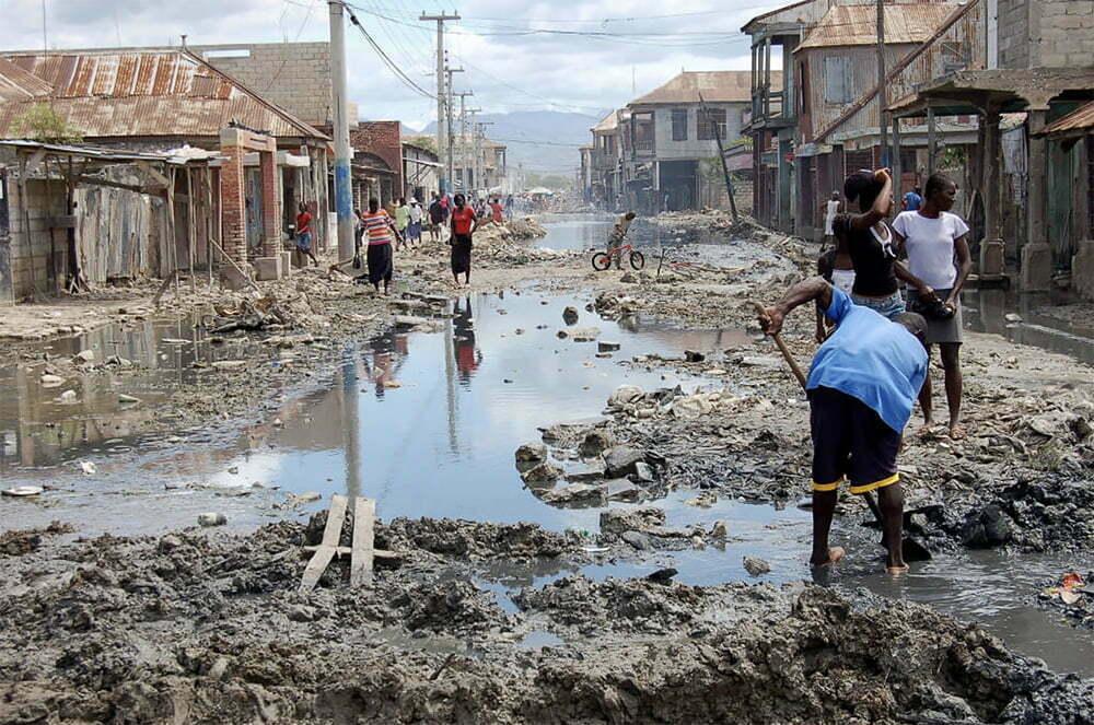 imagem de cidade sem saneamento básico