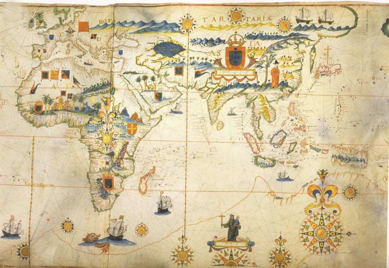 mapa da índia no século 16