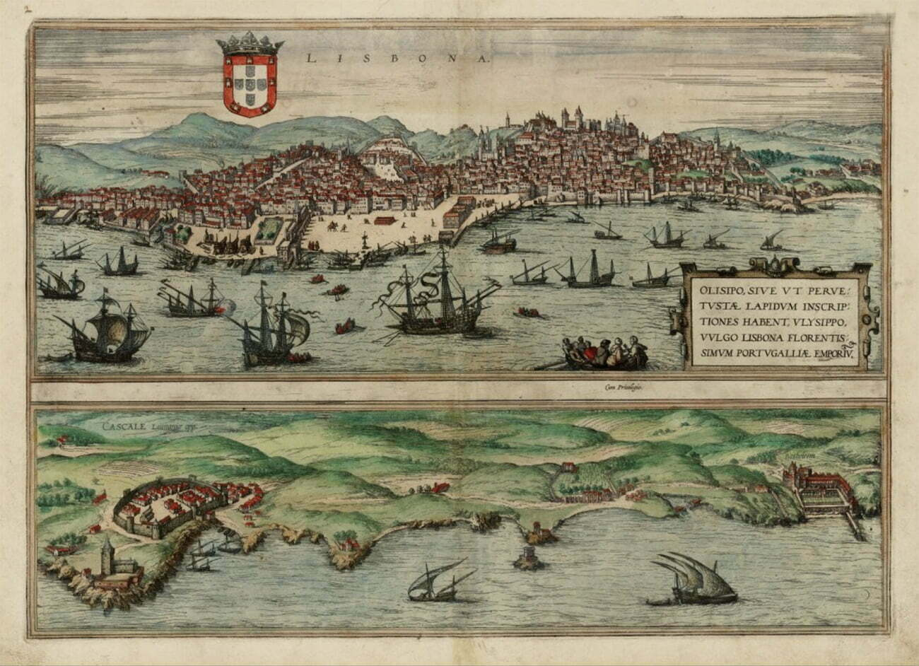 Gravura de Lisboa, século 16.