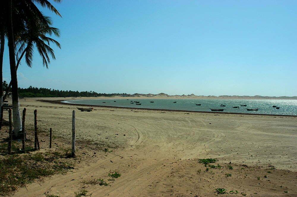 imagem de praia no Ceará.
