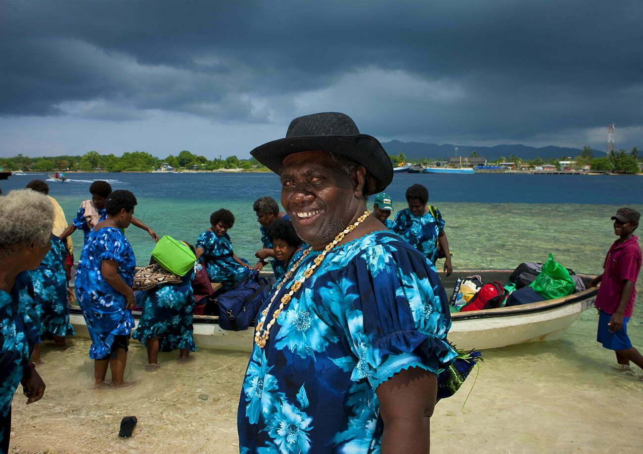 Barcos do Arquipélago de Bougainville.