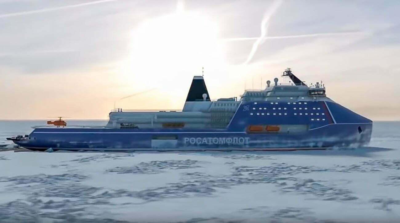 ilustração de navio quebra-gelo Russo