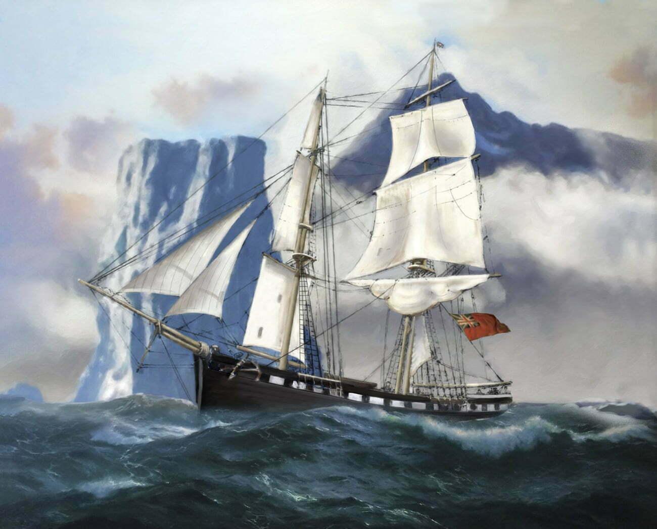 pintura do navio Williams, de William Smith