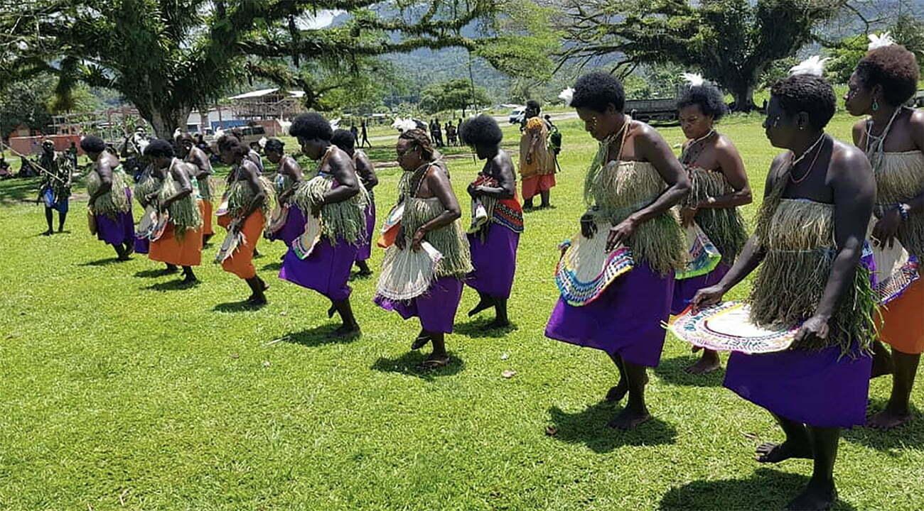 danças tribais em Bougainville