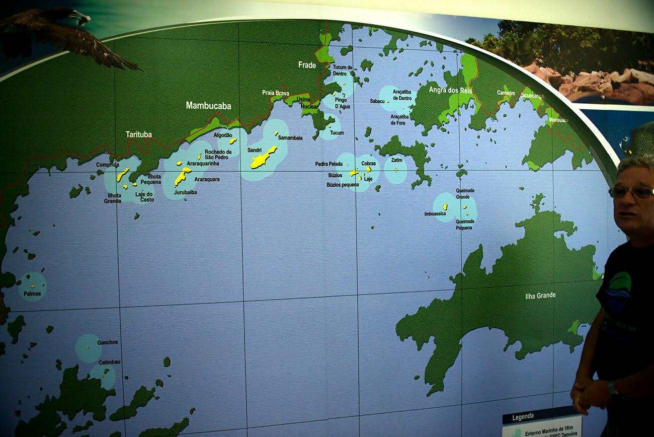 imagem de mapa da estação ecológica de tamoios