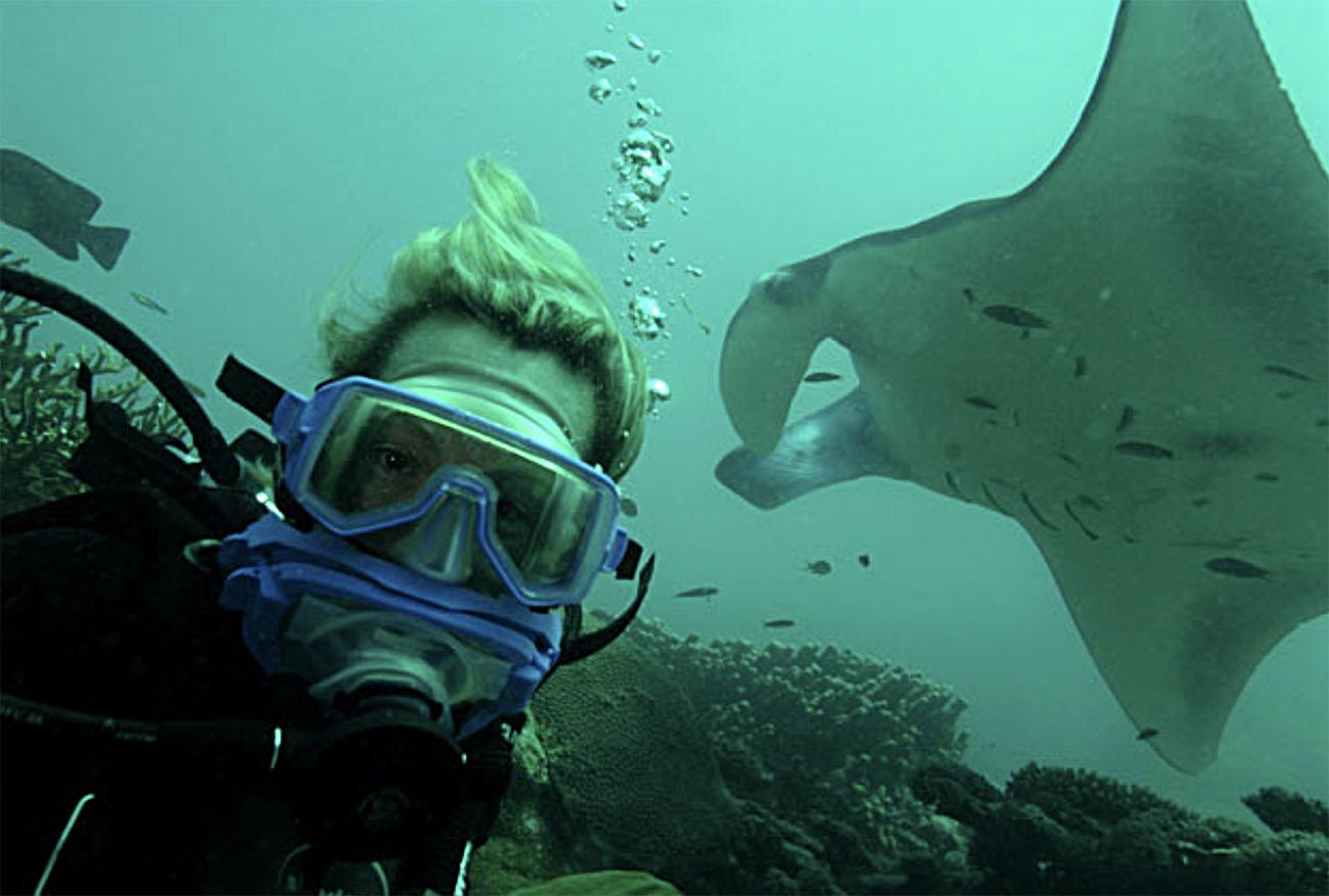 imagem de mergulhador em Palau