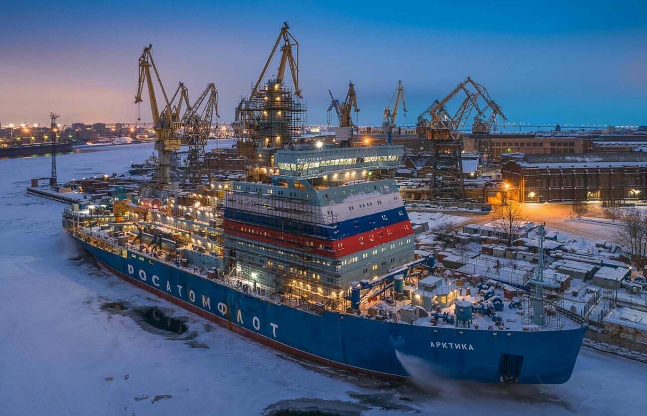 imagem de navio quebra-gelo da Russia