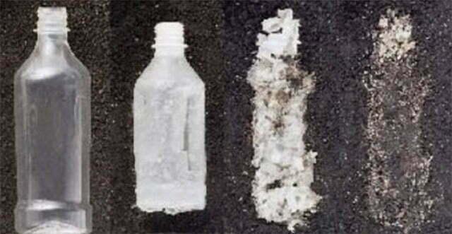 garrafas de plástico biodegradável