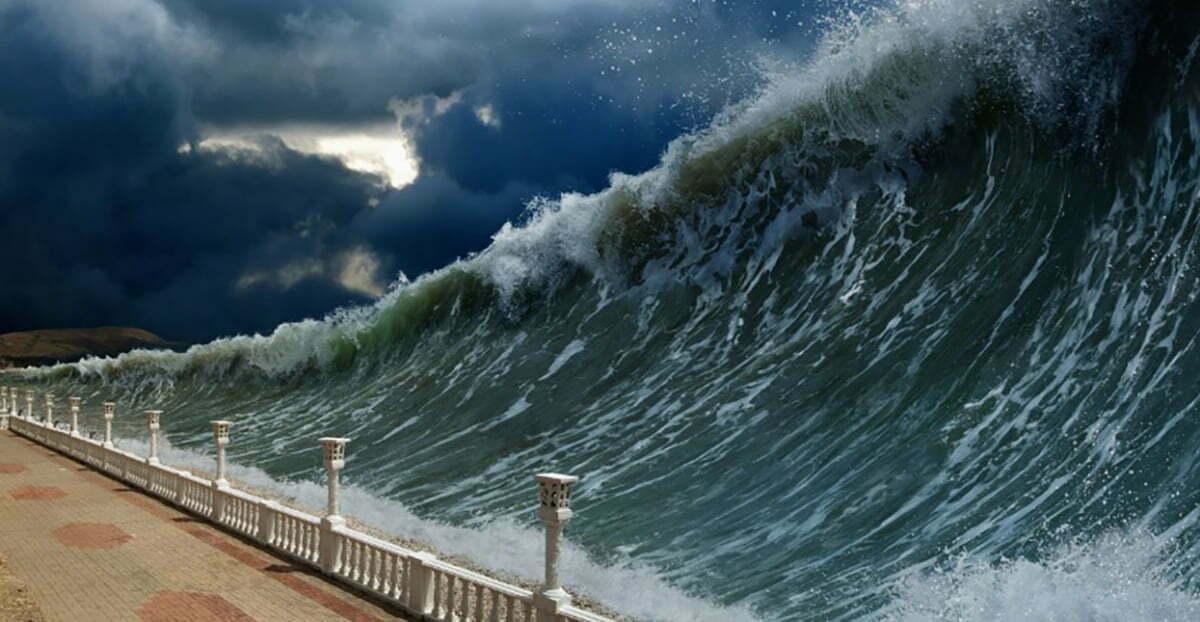 image de formação de tsunamis