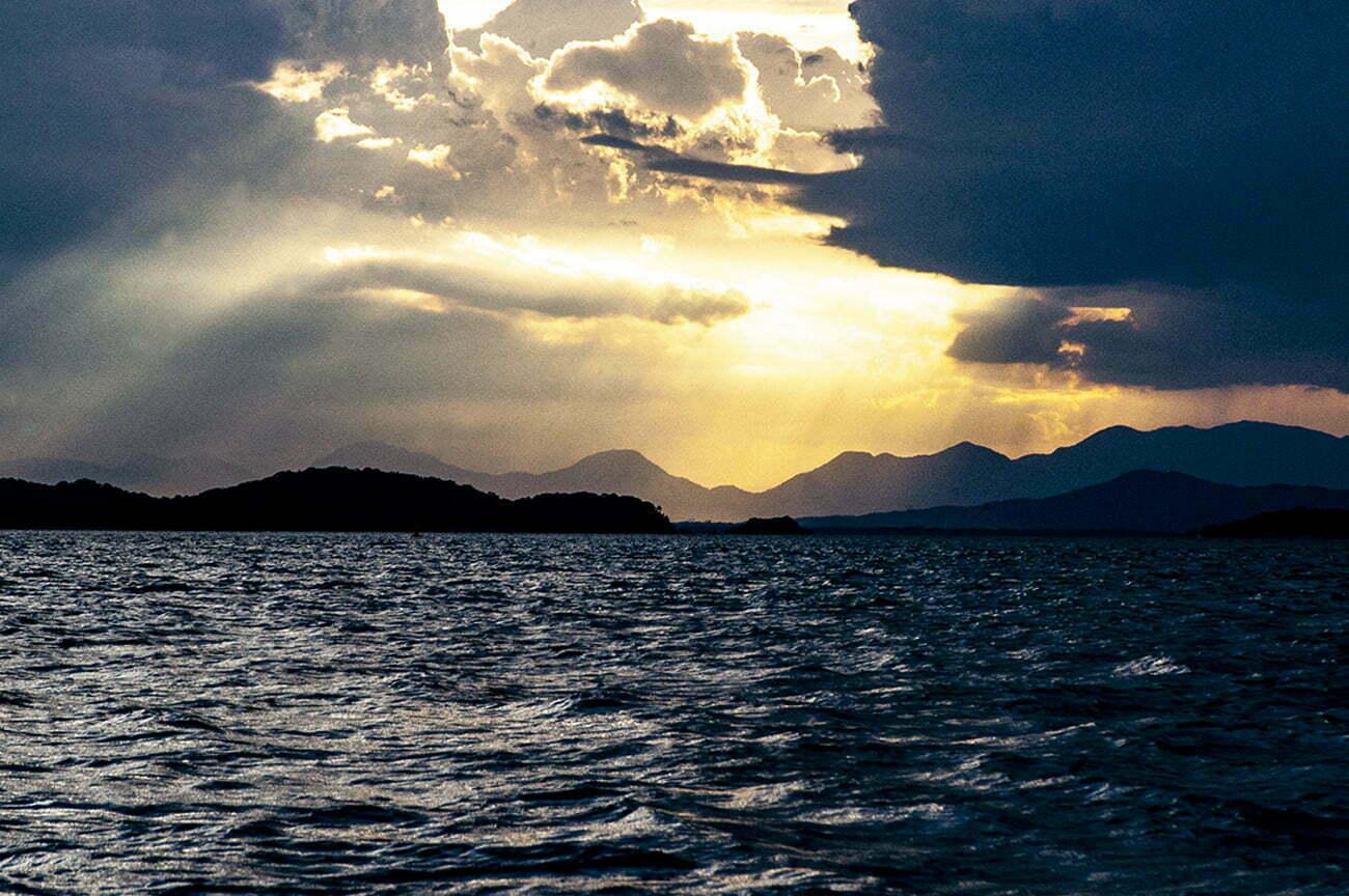 imagem da baía de Babitonga
