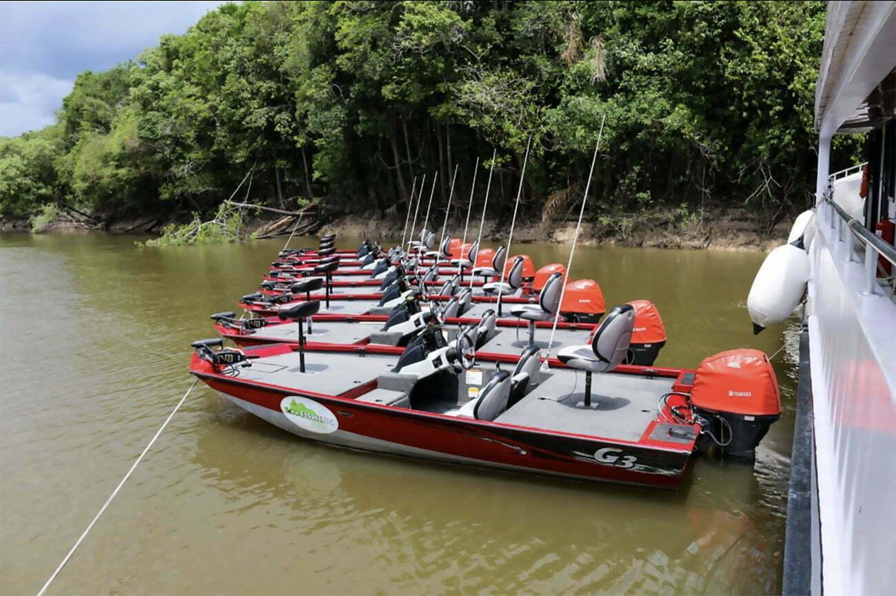 imagem de voadeiras de pesca esportiva