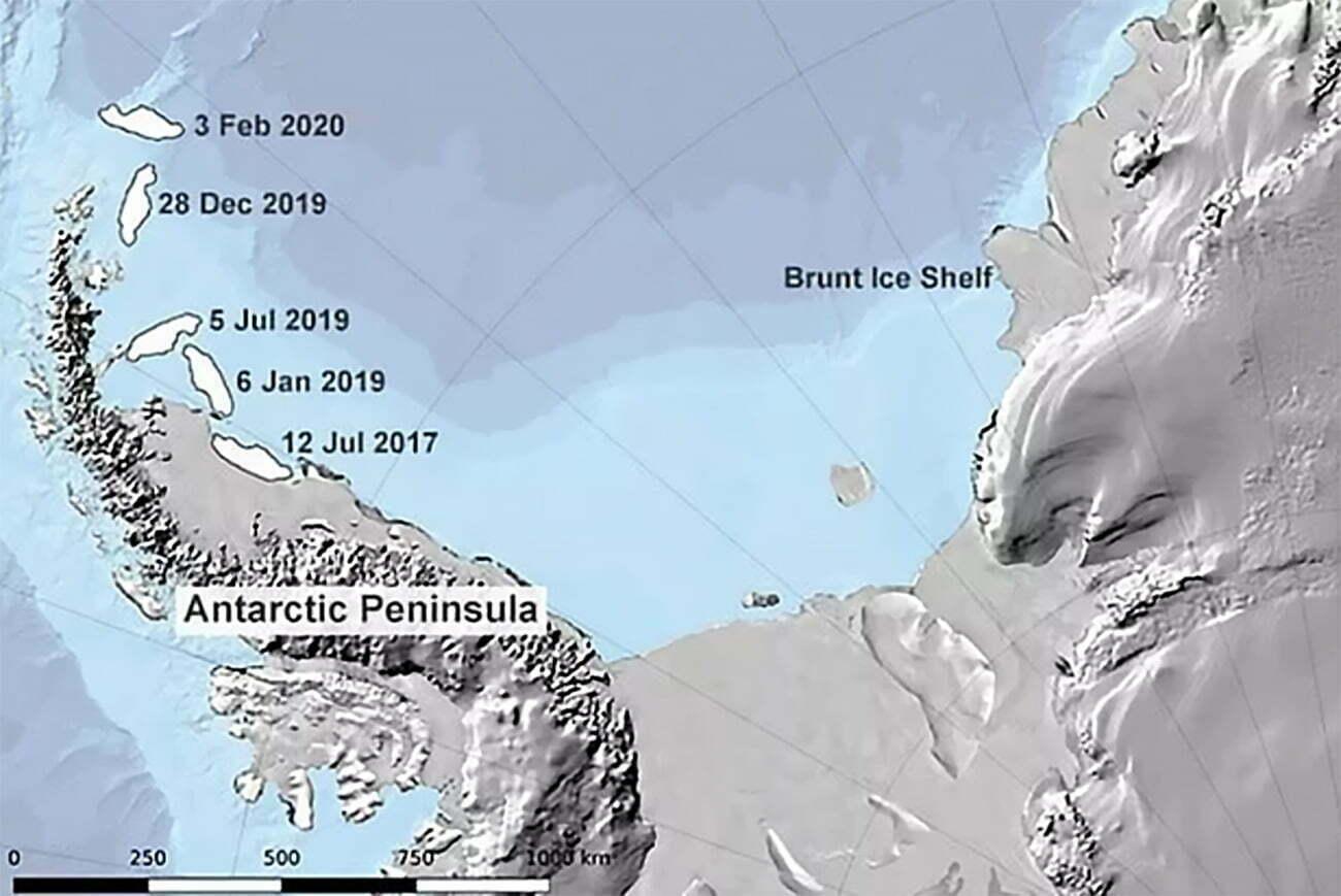 infográfico mostra onde se formou o maior iceberg do mundo