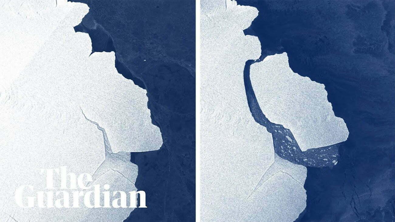 Infográfico mostra separação do iceberg