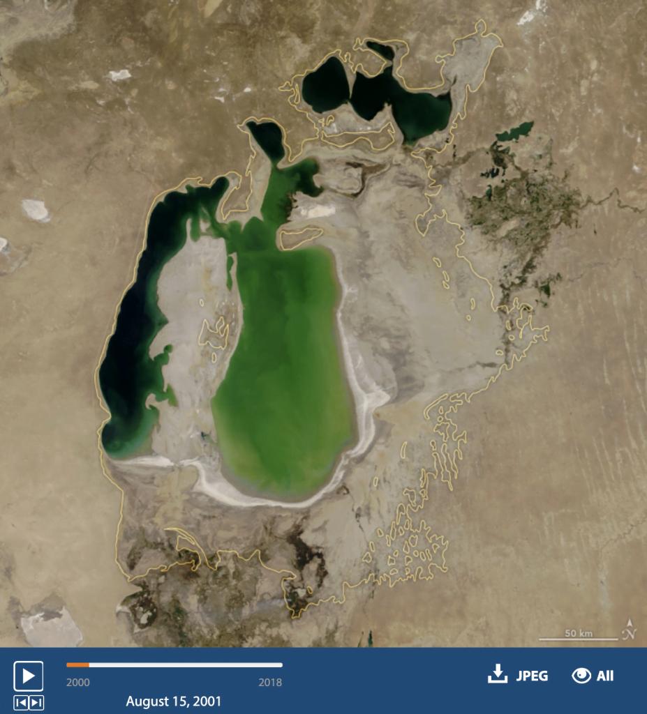 imagem do mar de Aral