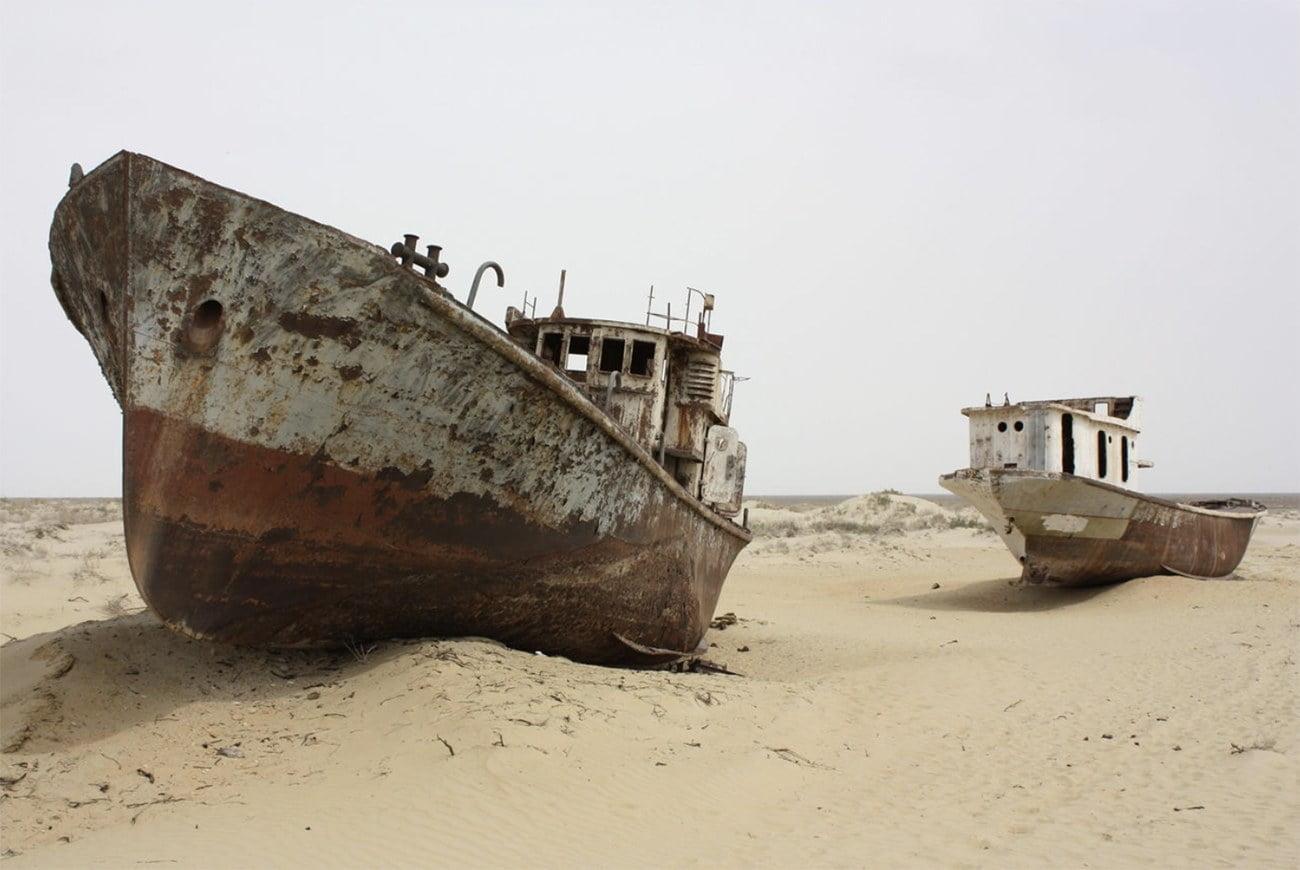 imagem do mar de Aral seco
