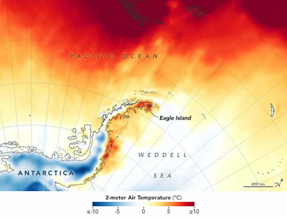 imagem da península antártica