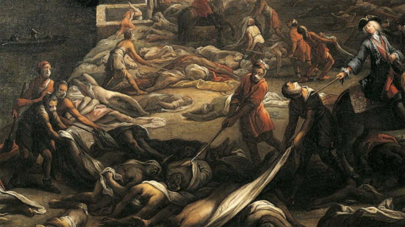 imagem de pintura retratando a peste negra