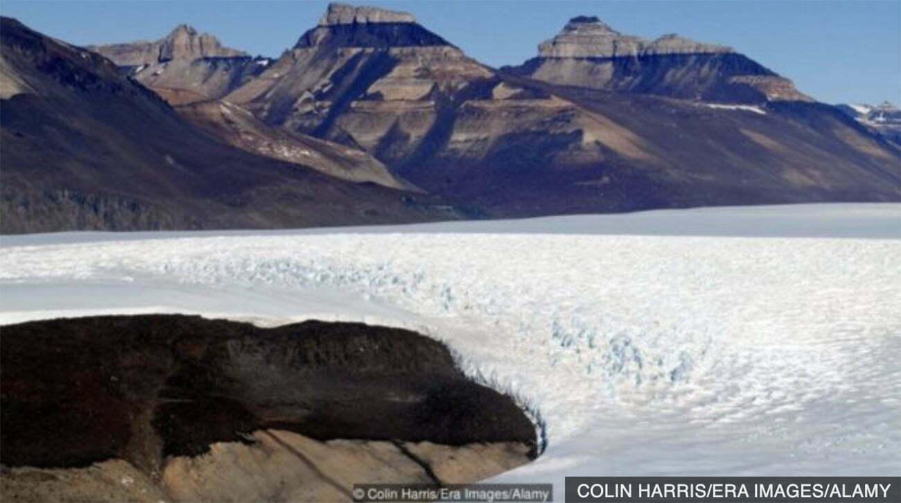 imagem de geleiras da Antártica