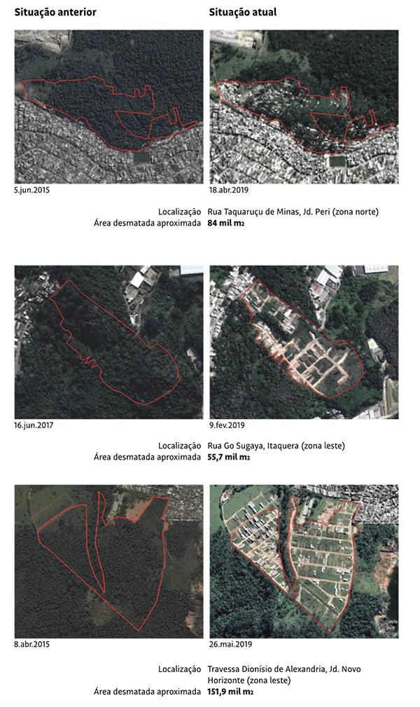 imagens aéreas Áreas de mananciais são 'ocupadas' pelo crime organizado
