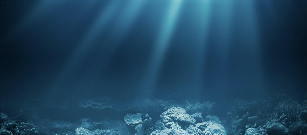imagem do fundo do oceano