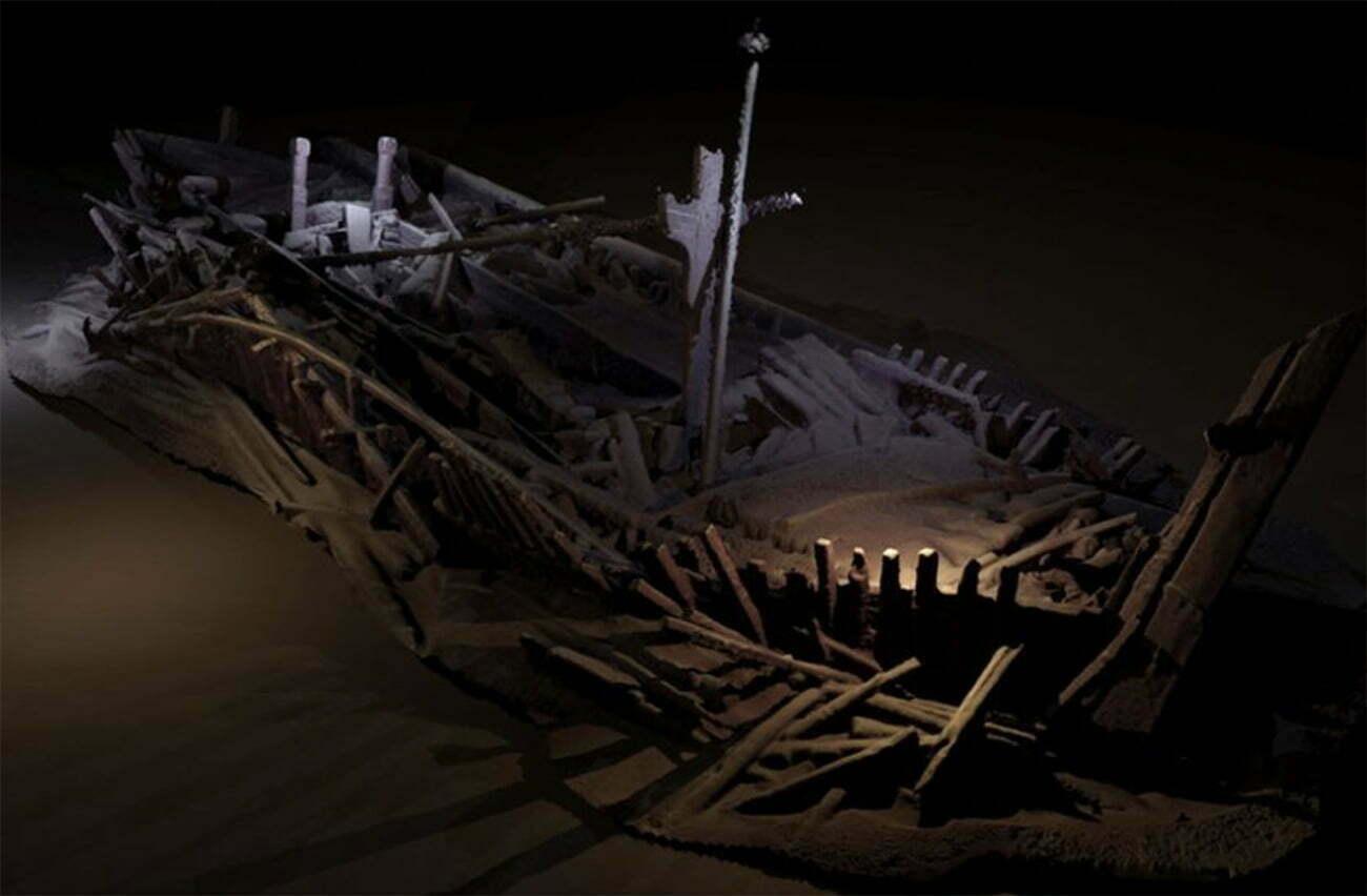 imagem e naufrágios antigos no Mar Negro