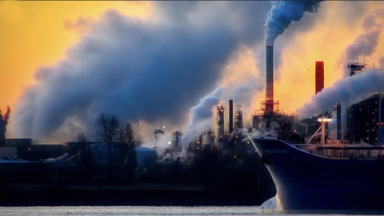 imagem de poluição do ar