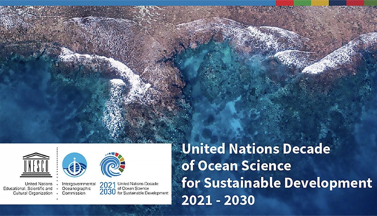 cartaz da Década da ONU da Ciência do Oceano