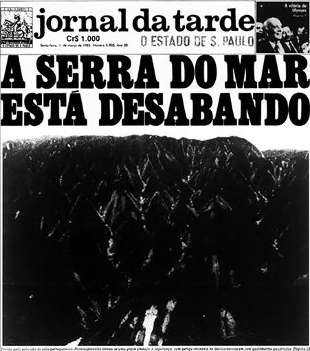 imagem de capa do jornal da tarde sobre serra do Mar