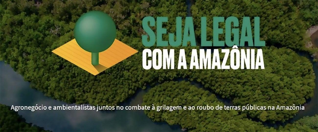 Imagem do selo seja legal com a Amazônia