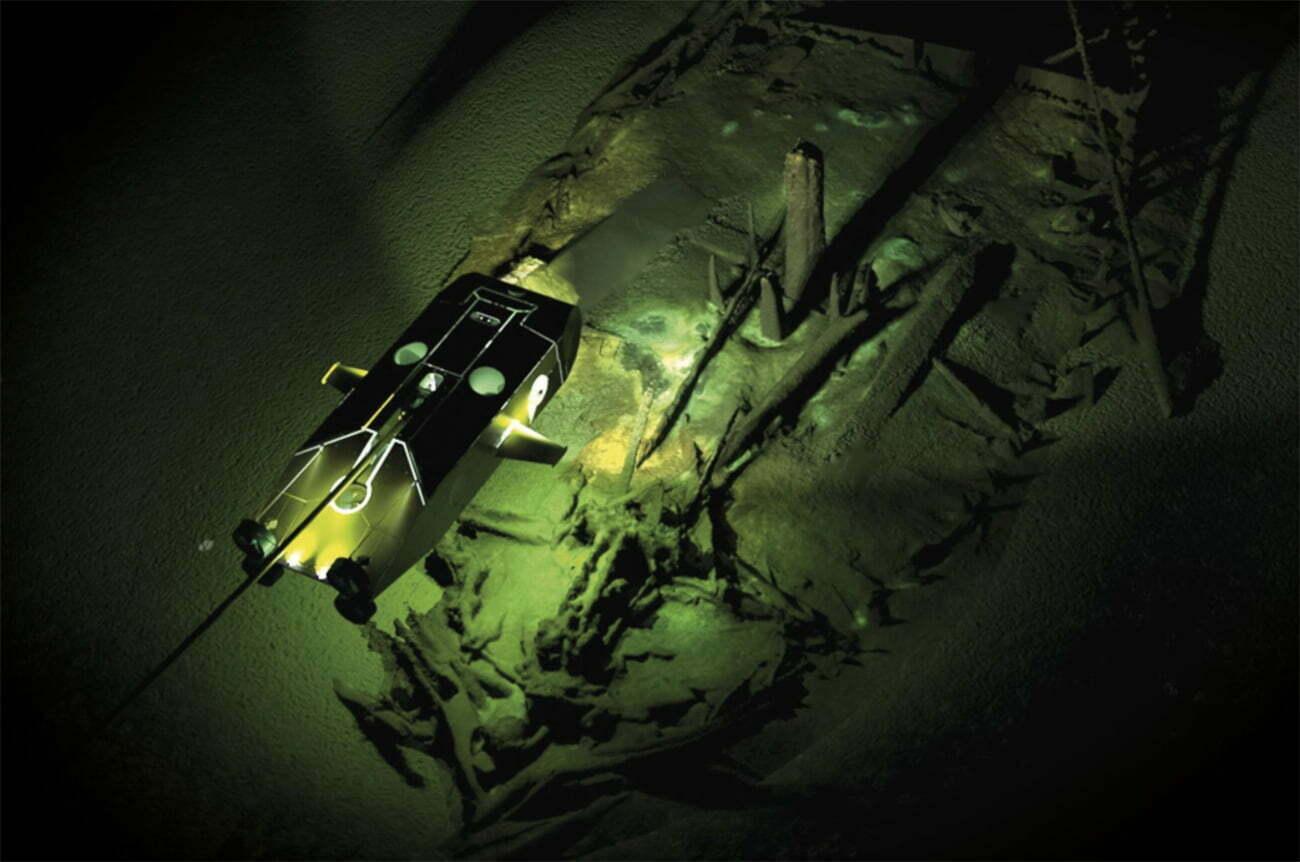imagem de naufrágios antigos no Mar Negro