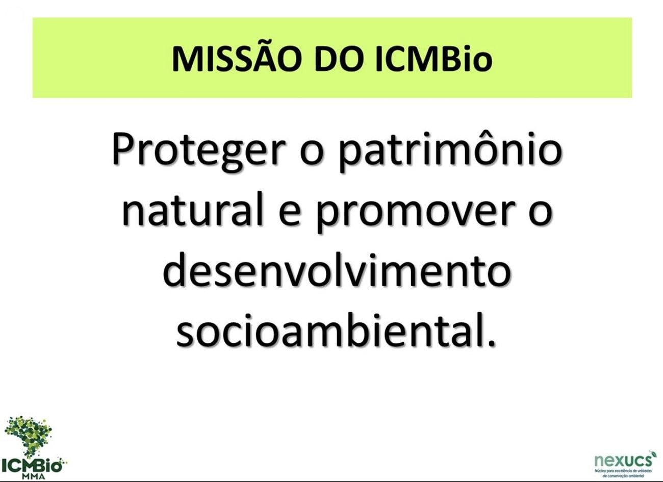 infográfico mostra missão do ICMBio