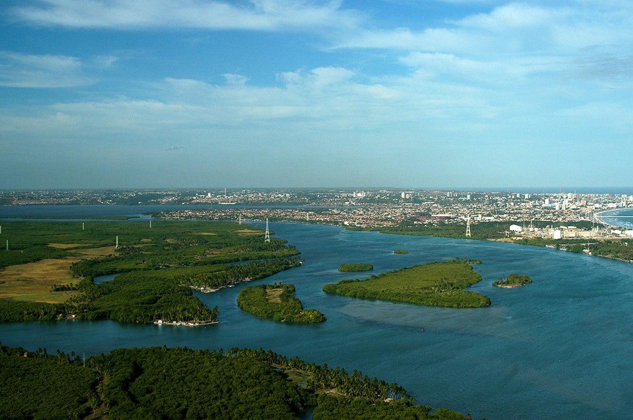 imagem de lagoas costeiras em Maceió