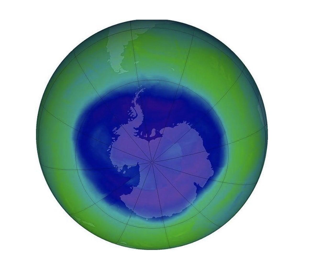 Infográfico mostra Buraco na camada de ozônio da antártica
