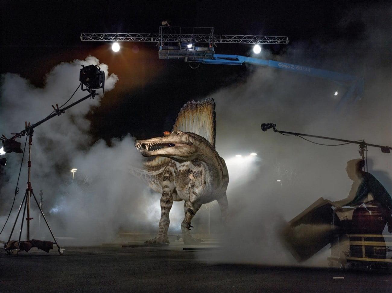 imagem de modelo do Espinossauro, um dinossauro