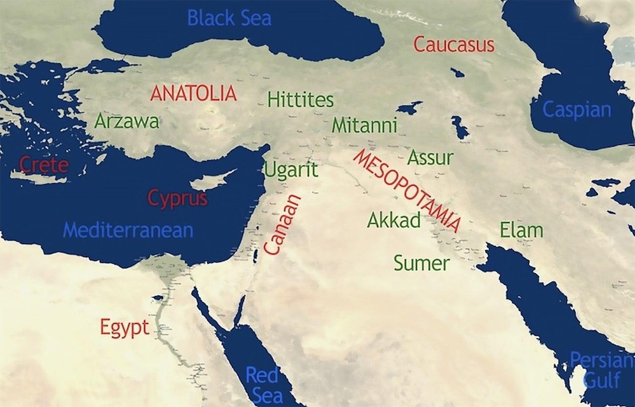 mapa do Mediterrâneo como berço da civilização ocidental
