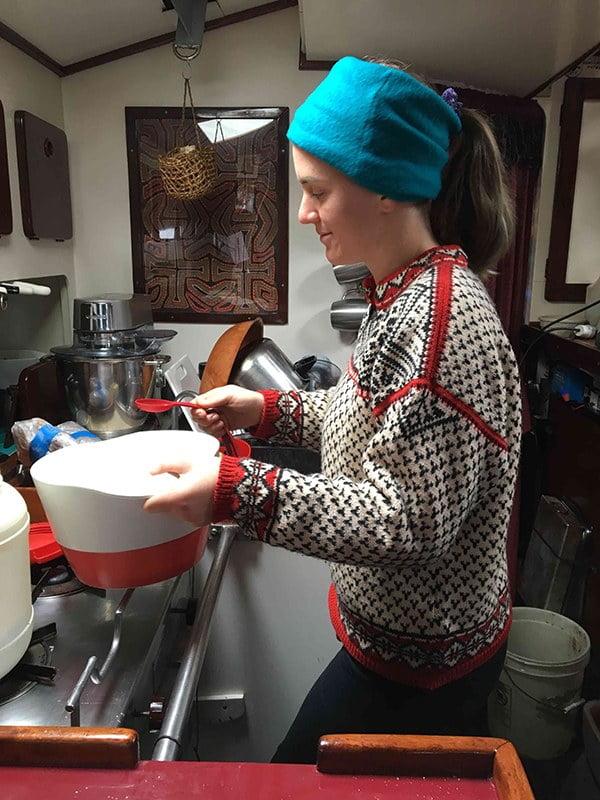 imagem de cozinha de um veleiro