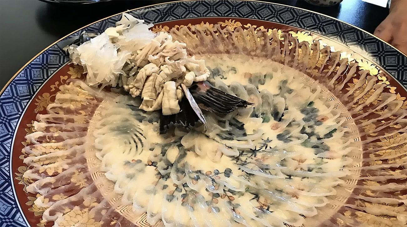 imagem de sashimi de baiacu