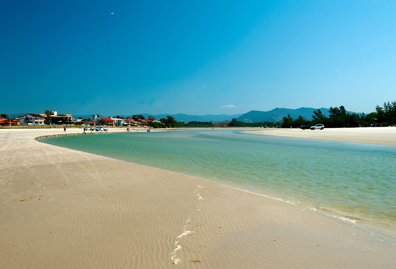 imagem da lagoa costeira de Ibiraquera, santa catarina