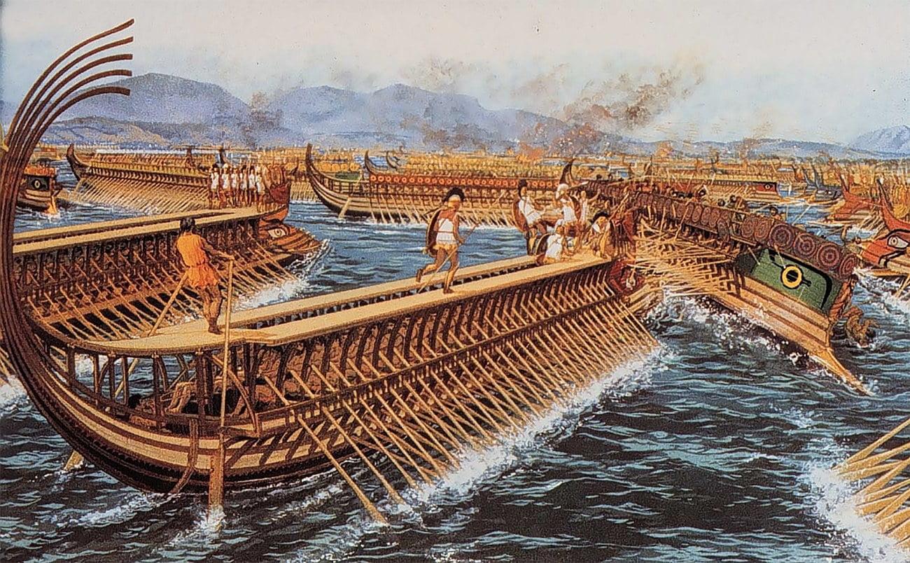 desenho de navios das guerras púnicas