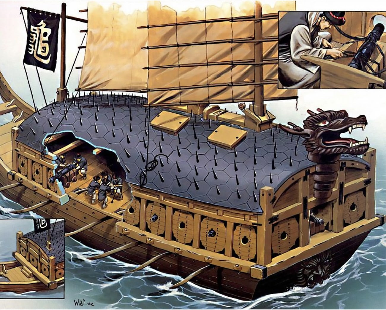 desenho de navio tartaruga