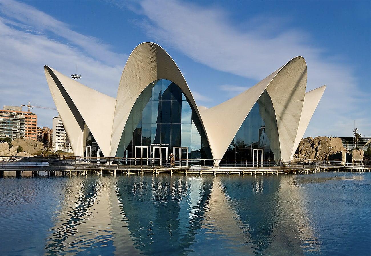 imagem da sede do Oceanografic, Espanha