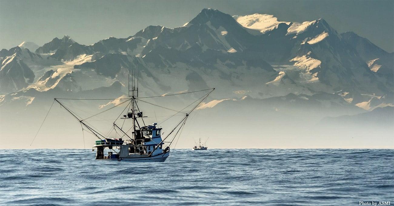 imagem da pesca de caranguejo no Alasca