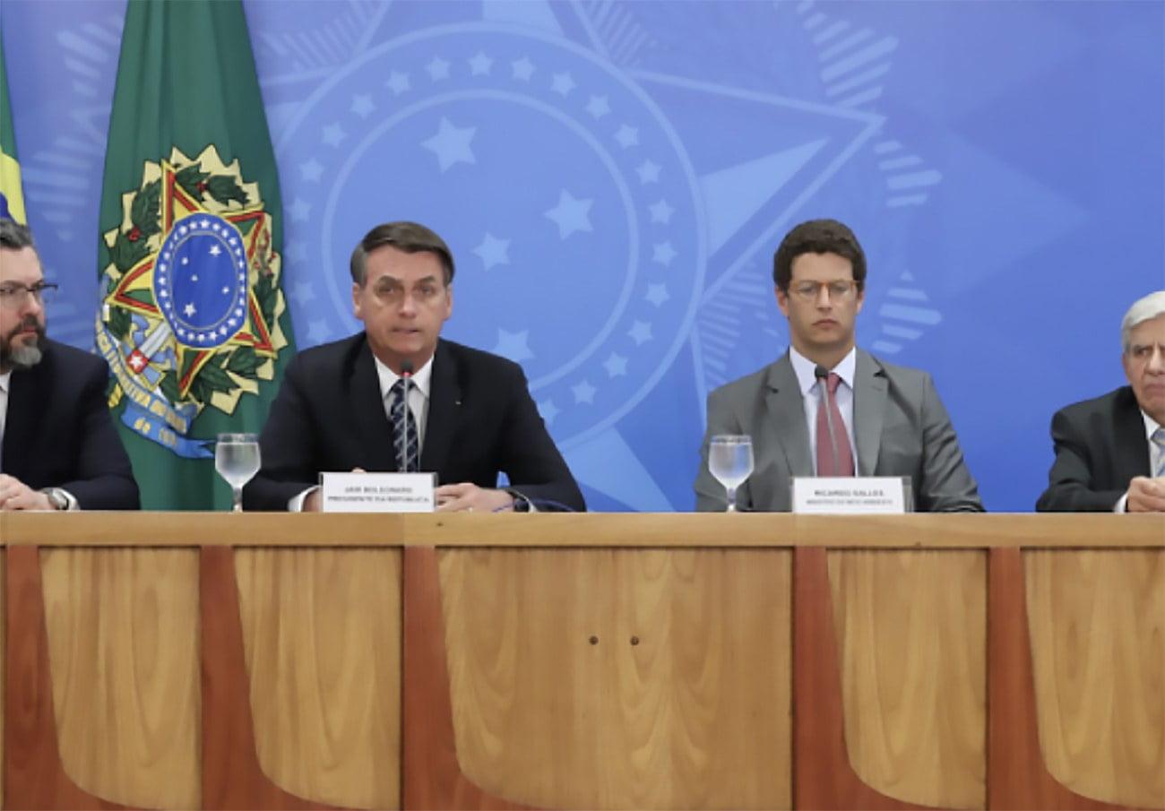 imagem de Ricardo salles e Jair Bolsonaro