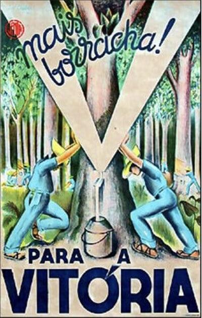 ilustração alusiva ao segundo ciclo da borracha na Amazônia