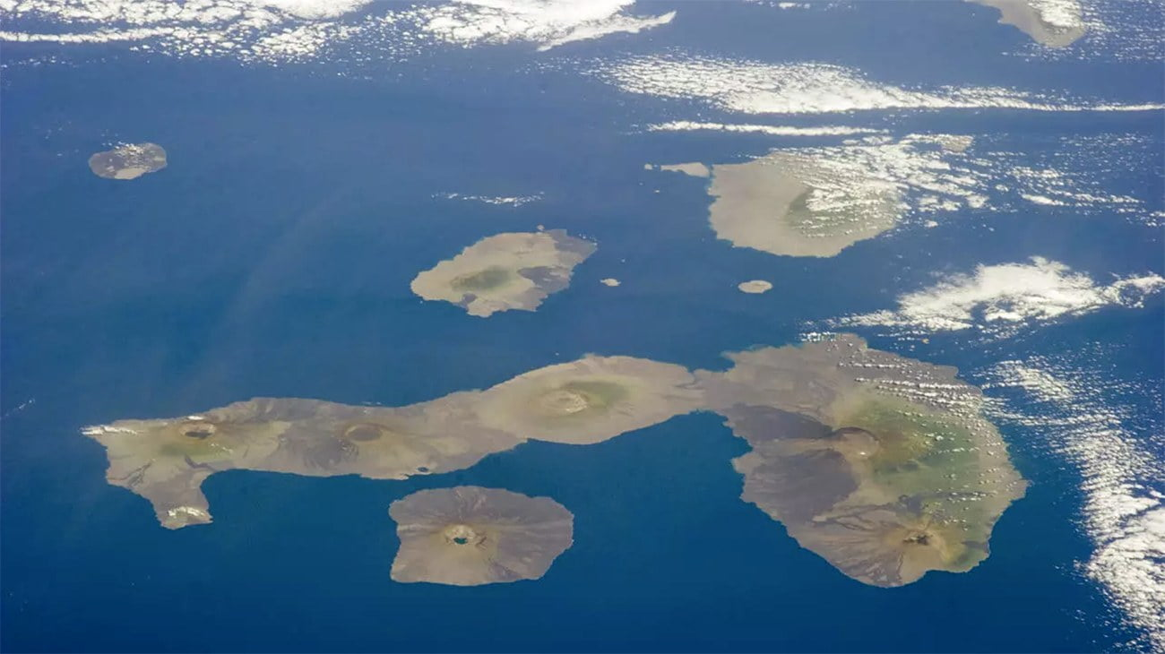 imagem aérea de Galápagos