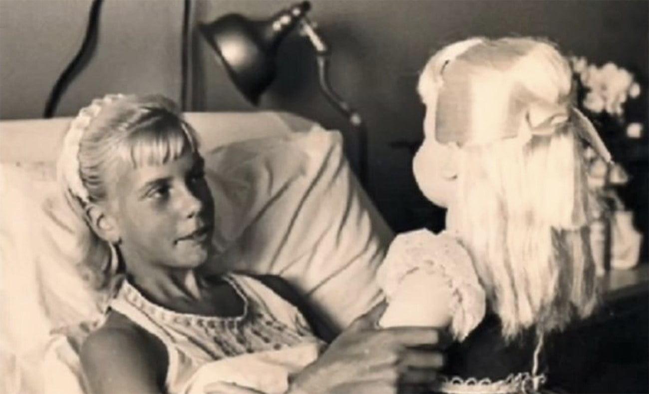 Imagem de Terry Jo Duperrault no hospital em 1961